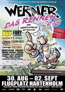 Werner – Das Rennen 2018 Plakat: Rötger Feldmann © Brösel